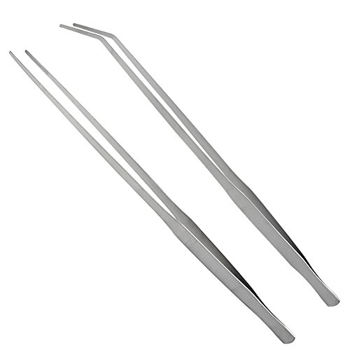 LILYS PET Straight and Bend Stainless Steel Super Thick Tweezers Set,Pliers...