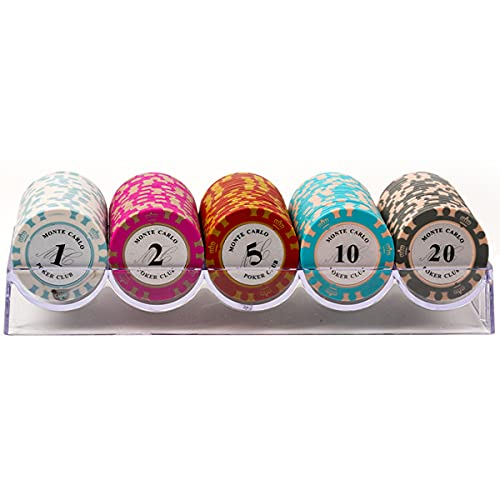LJ 100 unids/Caja fichas de póquer Profesional Familiar fichas Digitales fichas de póquer Conjunto de fichas de póquer Maletín de Póker Acrílico
