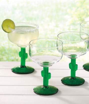 Cactus Stemmed Margarita Glasses 16 oz Libbey set of 6 product image