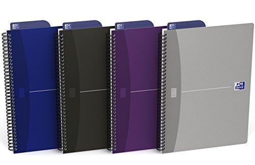 Oxford 400090611Office Essentials–Cuaderno cuadriculado encuadernada B5180páginas 5mm colores aleatorios