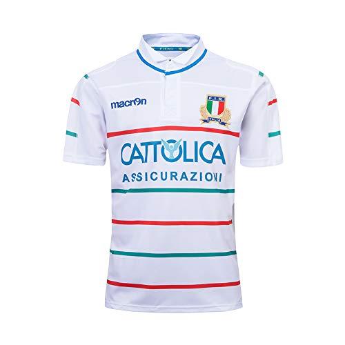 LCHENX-2019 Italien Rugby Fans Trikots Sportbekleidung Trainieren Schnelltrocknende Atmungsaktive Freizeit-T-Shirts,Weiß,XL