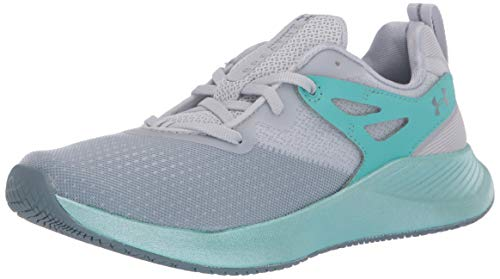 Under Armour Women's Charged Breathe TR 2 Cross Trainer, Halo Gray (101)/Radial Turquoise, 8.5 M US