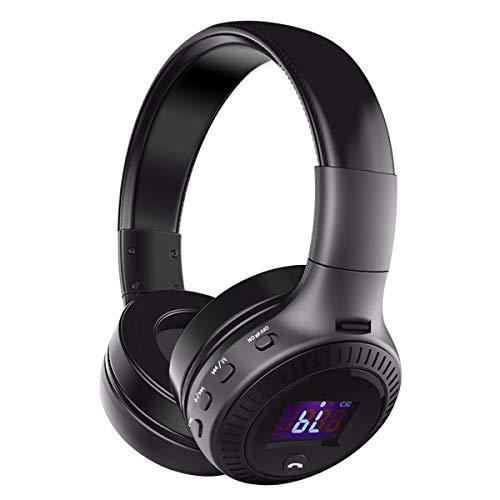 Bluetooth Kopfhörer, ELEGIANT Bluetooth 4.0 Stereo Headset On Ear Kopfhörer mit Digital Display 4 Modi Freisprechfunktion + Mic/ FM Radio/ TF SD Karte Slot/ 3,5mm Audio AUX