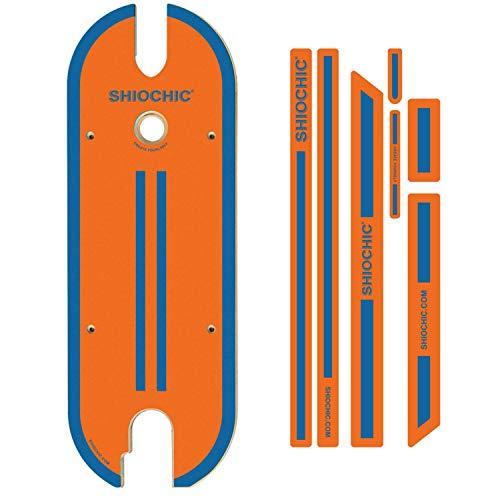 SHIOCHIC -Orange Blue - Accesorio para Patinete Eléctrico, Compatible con Xiaomi m365 Essential y 1S- Personaliza tu Patinete