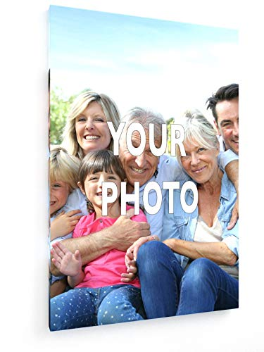 weewado Foto-Leinwand - Leinwandbild mit eigenem Bild, Foto, Text gestalten - Personalisierte Geschenke drucken 20x30 cm Leinwandbild auf Keilrahmen