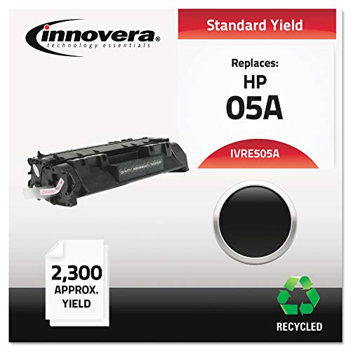 Innovera Remanufactured Toner, CE505A 05A Toner (Black, Sold as 1 Each) - Laserjet Toner Compatible with HP Printers, 2300 Page-Yield, and Economical Toner