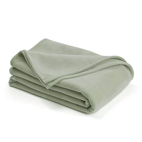 The Original Vellux Blanket - Full/Queen, Soft, Warm, Insulated, Pet-Friendly, Home Bed & Sofa - Moss