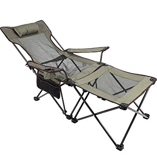 Unknow Softneco 2 en 1 Silla de Camping Plegable, sillón portátil con Mesa Desmontable, Silla Duradera al Aire Libre para Pesca en la Playa y picnics B
