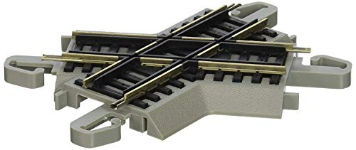 Bachmann Trains - Snap-Fit E-Z TRACK 60 DEGREE CROSSING (1/card) - NICKEL SILVER Rail With Gray Roadbed - HO Scale
