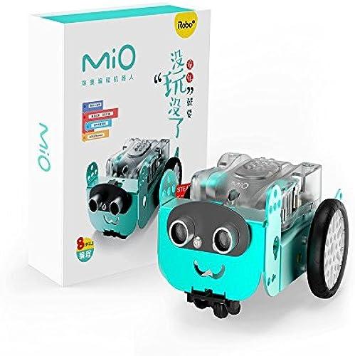 Dilwe Blautooth Roboter, programmierbarer intelligenter Robo3 Mio STEAM Roboterfernsteuerung Mbot APP Kratzer Roboter InsGrößetionssatz
