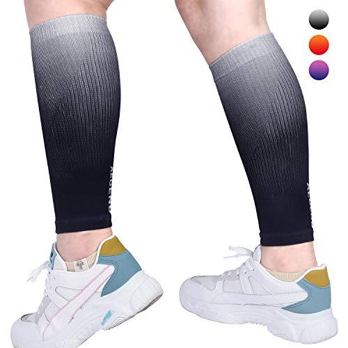 aegend Kompressions-Ärmel für Waden, hohe Elastizität, Bein-Kompressionsbandage für Schienbeinkantensyndrom, Krampfadern und Wadenschwellung, Wadenmanschetten zum Laufen, Radfahren, Krankenschwestern