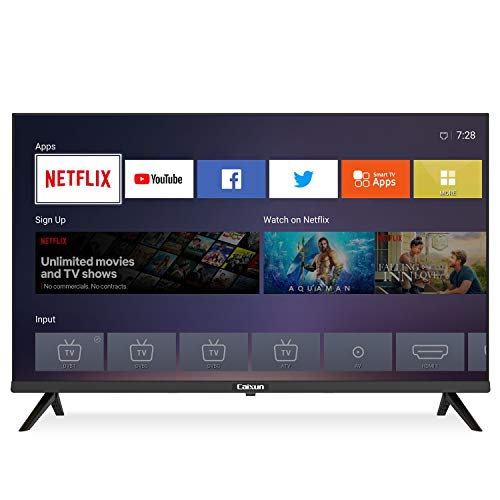 Caixun EC32S2N, 2020 Smart TV LED HD, 32 Pollici, WiFi, Prime video,Netflix, Youtube, Facebook, Tuner Triplo(DVB-T2/T/S2/S),3xHDMI 2xUSB Media Player, [Classe di efficienza energetica A+]