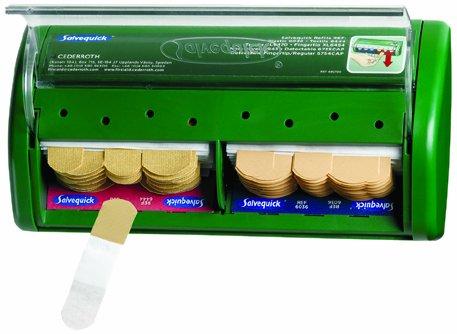 Salvequick Pflasterspender, 40 x Pflasterstrips elastisch