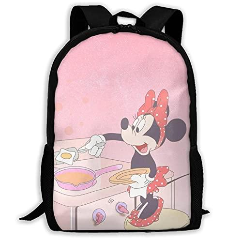 Minnie Cartoon Mouse Mochila Unisex Poliéster Casual Mochilas Viaje Escuela Juego Bolsa