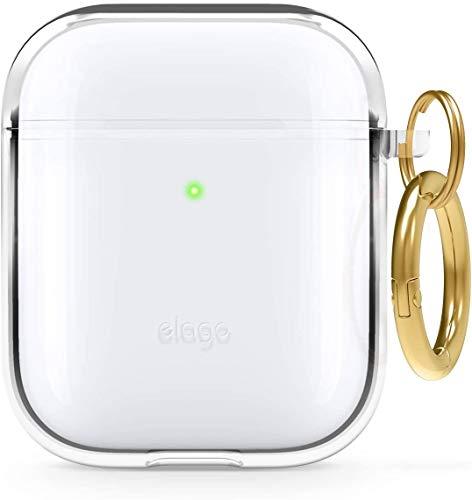 elago Funda TPU Clear Compatible con Apple AirPods 2&1 - Premium TPU, Reduce Amarilleo, Libre de Mancha, Soporte la Carga Inalámbrica (Transparente)