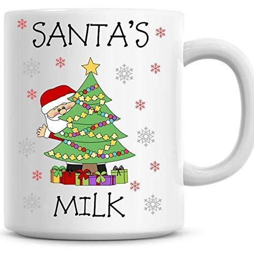 Leuke Vrolijke Kerstmis Koffie Mok, Santas Melk Mok Kerstmis Ontwerp Leuke Kerstmis Mok 11Oz Koffie Mok Grappige Humor Koffie Mok