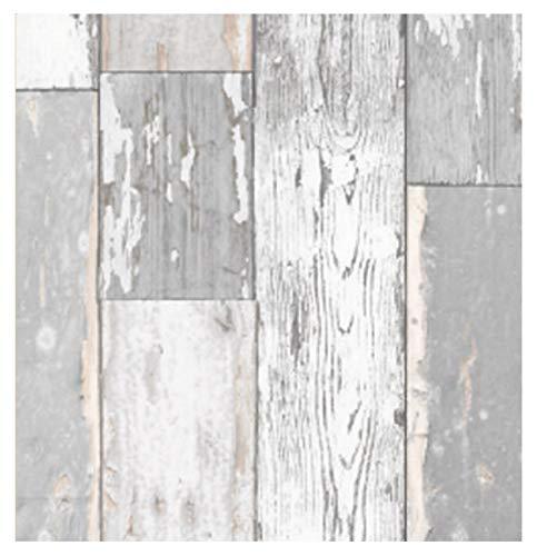 i.stHOME Klebefolie Scrapwood grau - Möbelfolie altes Holz - Dekofolie Möbel 45x200 cm - Selbstklebefolie Holzoptik Vintage