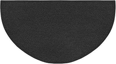 Daokedao Fireplace Mat, Fire Retardant Fireplace Mat, Half Round Hearth Fireplace Area Mat Non Slip Mat Low Profile Protects Floors from Sparks Embers Logs from Daokedao