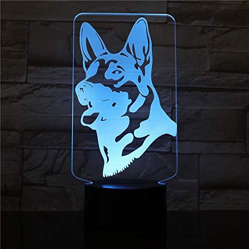 3D-nachtlampje van acryl met tafellamp, kleurverandering met afstandsbediening, Duitse herdenking, stofbescherming, roze