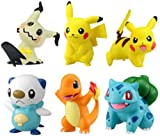 MDCGOK 6 PZ / Set Pokemon Charmander Popplio Litten Pikachu Rowlet Treecko Eevee Fennekin Greninja Anime Azione Figura Bambole giocattolo 4-6cm