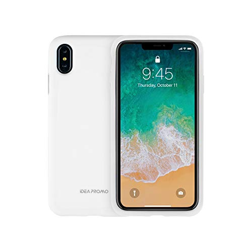 iPhone X/XS Case, Soft Gel Silicone Plus Bright Plating Layer, Heavy Duty Full Body Shockproof Drop Protection, Supper Beautiful Sleek Appearance and Feel, for iPhone 5.8 inch Cover, Gray White -  Idea Promo