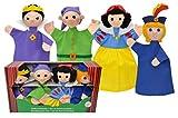 MU Brno Juego de marionetas de mano de Blancanieves, en caja de regalo, 4 unidades