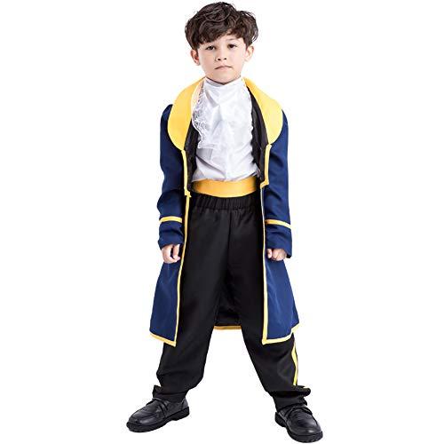 NIMIFOOL Disfraces para niños Material De Poliéster Niño Noble Traje De Príncipe Familia De Padres E Hijos Adecuado para La Fiesta Escolar De Halloween,L