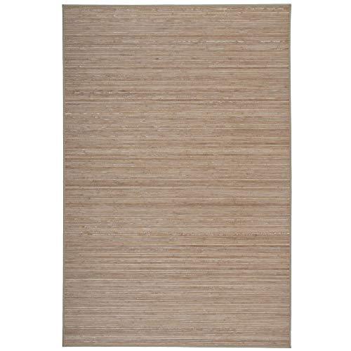 Alfombra de Comedor Efecto Lavado de bambú Natural exótica, de 200x300 cm - LOLAhome