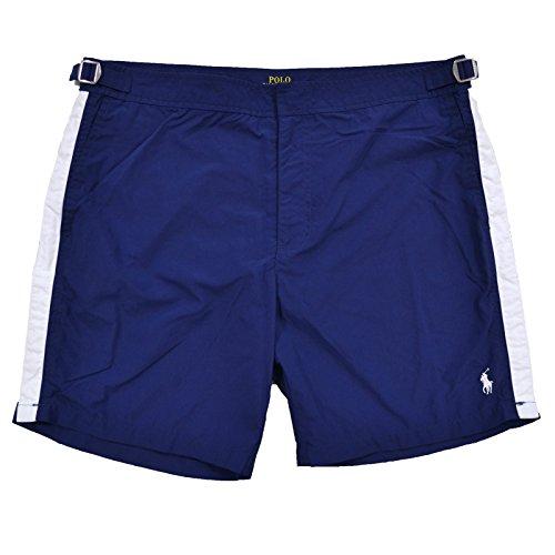 "Ralph Lauren Polo Men's 7"" Monaco Solid Swim Trunks Shorts (40, Blue)"