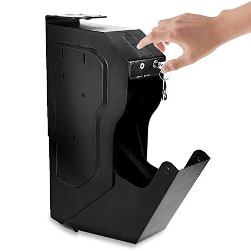WDSZXH Portátil Caja Fuerte Compacta Biométrica, Apertura con Huella Dactilar Ideal para Objetos de Valor, Dispositivos electrónicos, pequeños, Arma Corta