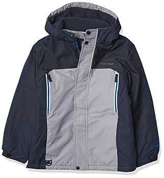ZeroXposur Boys 3 in 1 Winter Jacket Fleece Lined Hooded Winter Boys Coat  Sterling Large