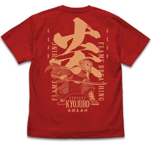 鬼滅の刃 無限列車編 炎の呼吸 煉獄杏寿郎 Tシャツ/RED-XL