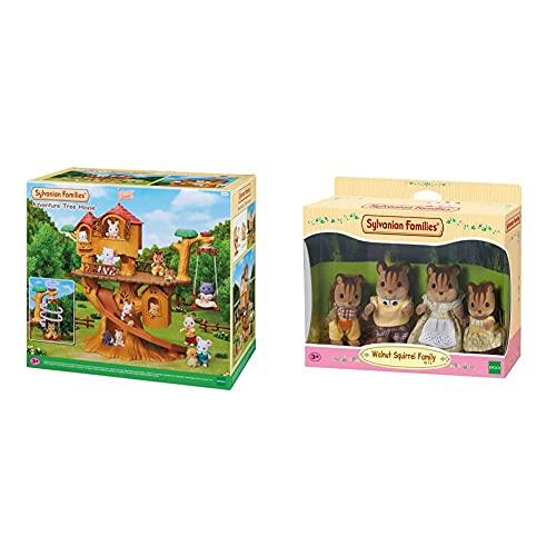 SYLVANIAN FAMILIES Casa De Aventuras En El Árbol Doll House (Epoch para Imaginar 05494) + 4172 Familia Ardilla De La Nuez