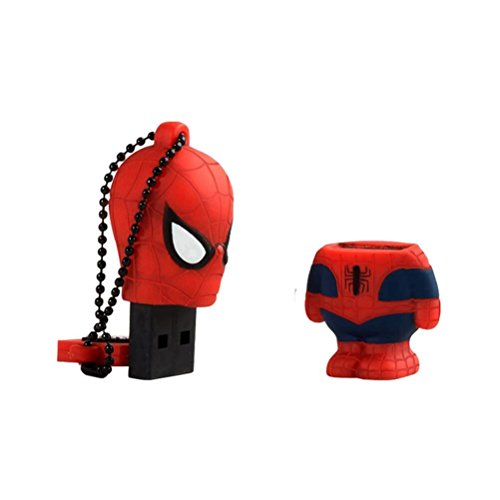 Chiavetta USB 32 GB Spiderman - Memoria Flash Drive 2.0 Originale Marvel, Tribe FD016705