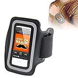 subtel® Pulsera Compatible con Apple iPod 7 Nano Plastic Funda Flip Cover Case Negro