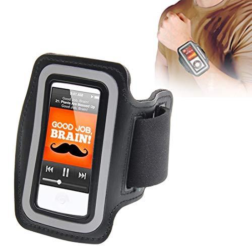subtel Pulsera Compatible con Apple iPod 7 Nano Plastic Funda Flip Cover Case Negro