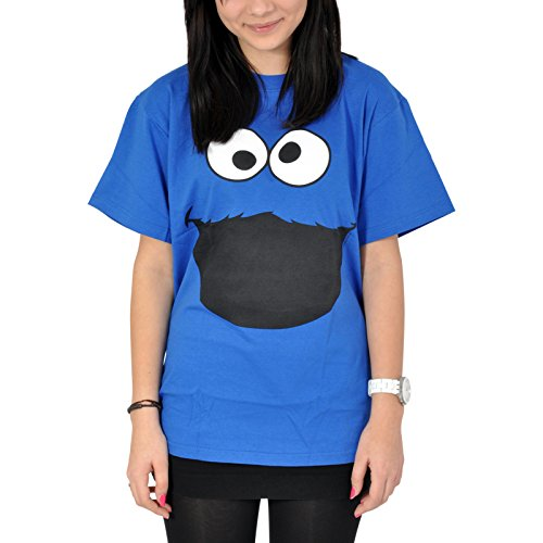 Sesamstrasse T-Shirt Krümelmonster Cookie Monster Face in Größe L