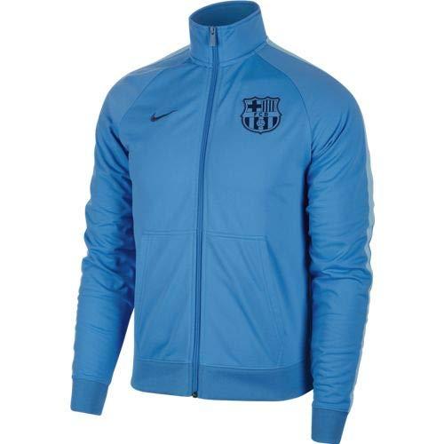 Nike FC Barcelona Jacket PK Crest Njt, Giacca Uomo, Equator Blue/Vivid Sky/Coastal Blue, S