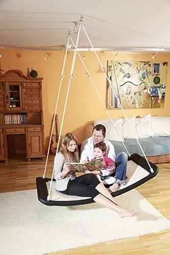 Relax-Schaukel - LifestylePlus XL (extra lang & extra breit)   Ma  166 x 76 x 25cm   Gewicht  10 kg   Farbe  camel