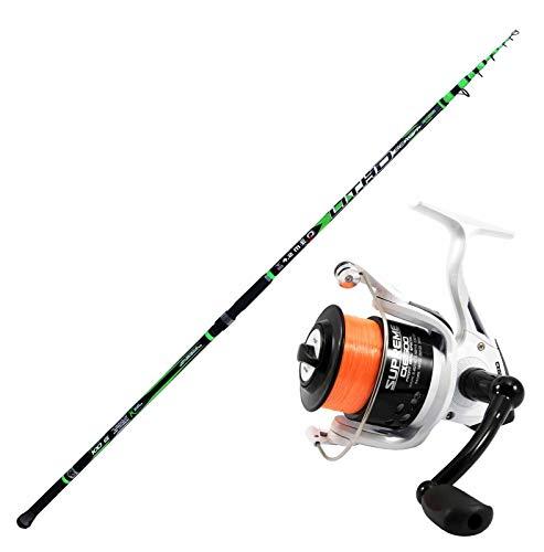agc Kit Evo Fishing Beach LEDGERING Composto da Canna Evo Fishing Litho 4,20 m + Mulinello Evo Fishing Supreme CX 6500