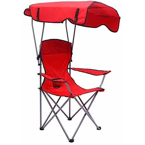 Draagbare campingstoelen, opvouwbare tuinligstoel, met zonnescherm Lichtgewicht strandstoel, met luifel fauteuilstoel, compact ultralicht strandvissen buiten