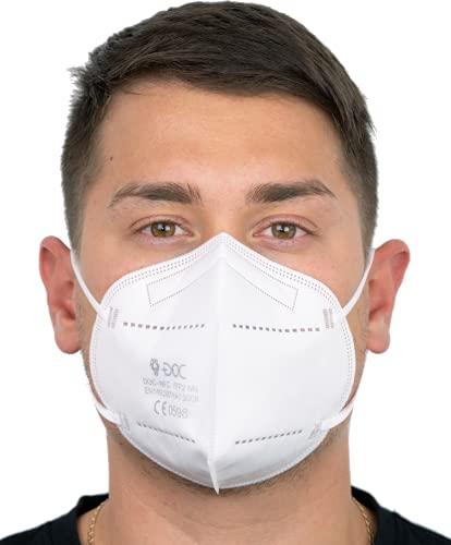 DOC FFP2-Masken EN 149:2001 + A1:2009 - CE 0598 - 30 Stück - Einzeln verpackt (weiß)