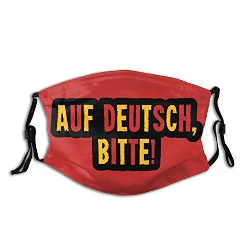 Fenvebiu Washable and Reusable Adult Protective mask- Auf Deutsch, Bitte for Men and Women 1 PCS Black