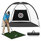 trounistro 2M Golf Hitting Net, Foldable Golf Practice Cage Driving Hitting Net Training
