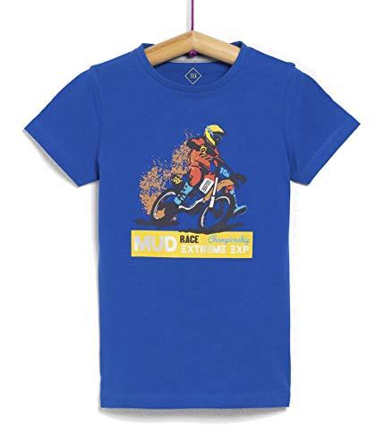 TEX - Camiseta Estampada de Niño, Azul Royal, 11-12 años