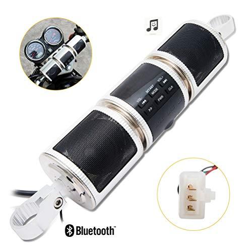 OD-B Universal Motorrad Stereoanlage Lautsprecher 12V HiFi High Fidelity, Wasserdichter MP3-Player-Lautsprecher, FM BT Radio-Audiosystem für Roller