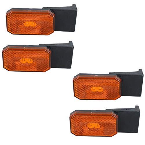 AB Tools 4 x LED Orange Orange Feux de gabarit/Caravane remorque Lampe 12V ou 24V