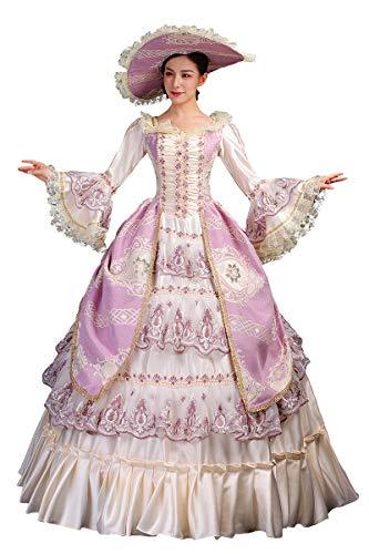 High End Court Rokoko Barock Marie Antoinette Ballkleider 18. Jahrhundert Renaissance Historische Periode Kleid Kleid für Frauen -  -  Mittel