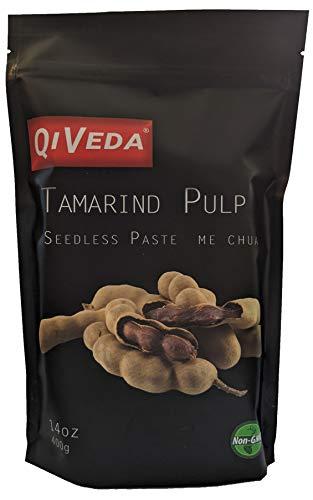 QiVeda Premium Tamarind Pulp | Seedless Paste | Me Chua | 14oz (400g)