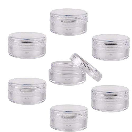 HOSL Kosmetik-Tiegel, Kosmetik-Behälter, aus transparentem Kunststoff, für 5g / 5ml,...